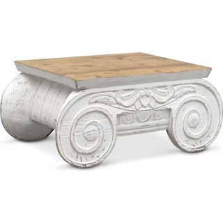 Corinth Accent Table - Distressed White