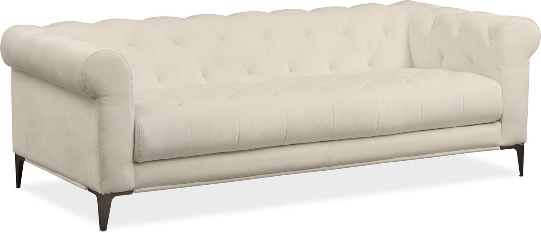 david sofa ivory - Backless Sofa
