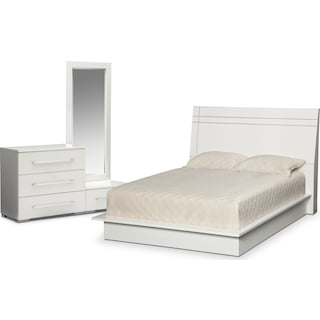 Dimora 5-Piece Queen Panel Bedroom Set - White