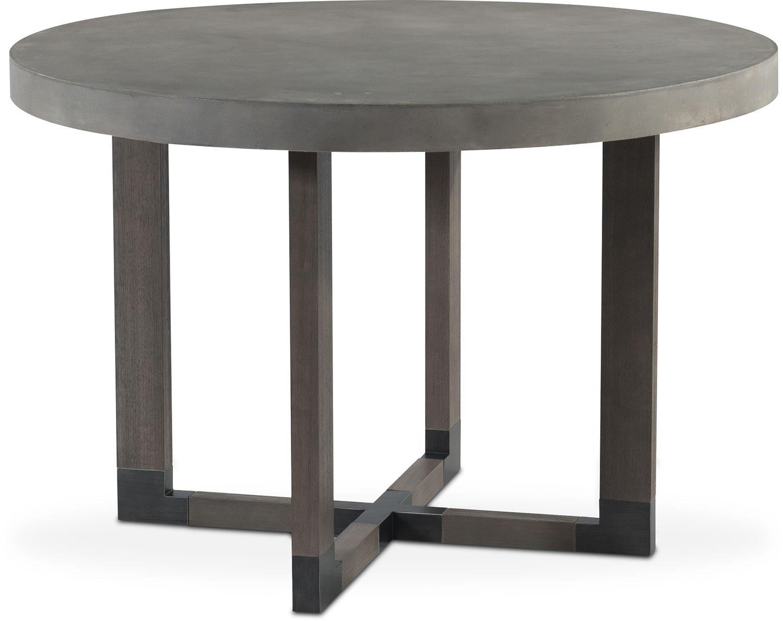 malibu round counter height concrete top table gray american signature furniture. Black Bedroom Furniture Sets. Home Design Ideas
