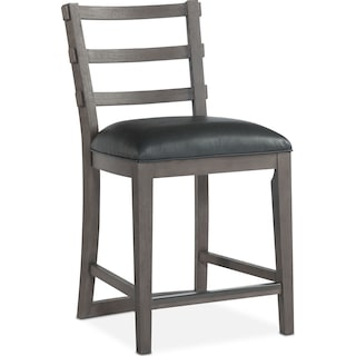 Malibu Counter-Height Stool - Gray