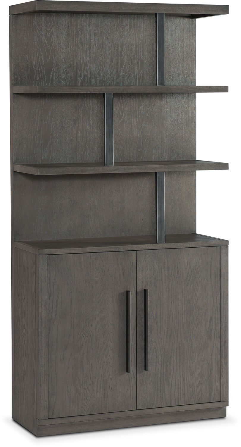 Gentil Dining Room Furniture   Malibu Open Display Cabinet   Gray