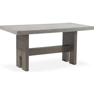 Malibu Rectangular Counter-Height Concrete Top Table - Gray