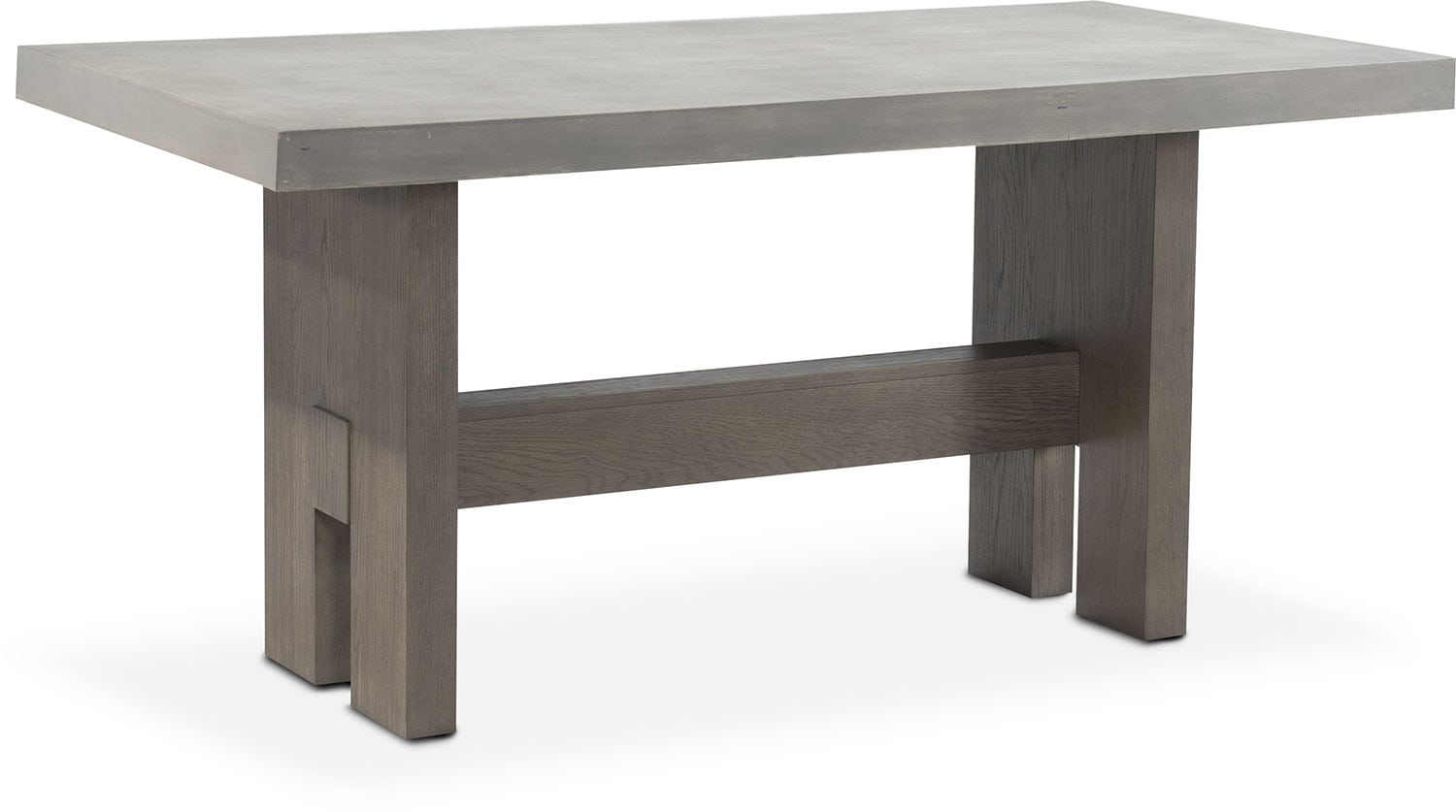 Malibu Rectangular Counter Height Concrete Top Table   Gray