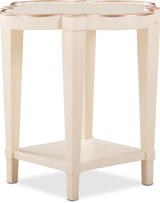 Cardozo End Table - Parchment