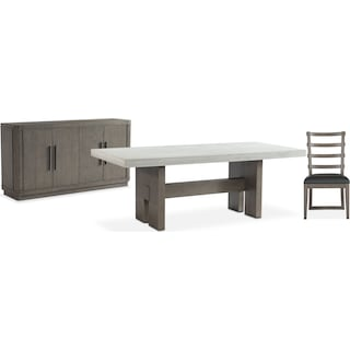 The Malibu Rectanglular Dining Collection - Gray