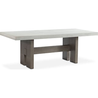 Malibu Rectangular Concrete Top Table - Gray