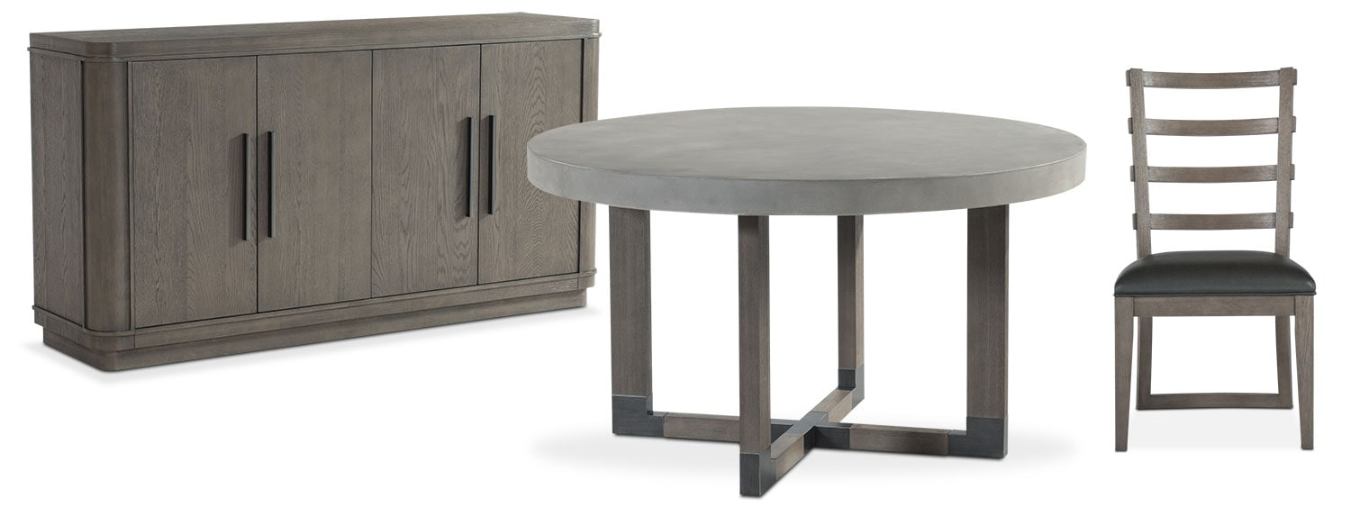 The Malibu Round Dining Collection - Gray