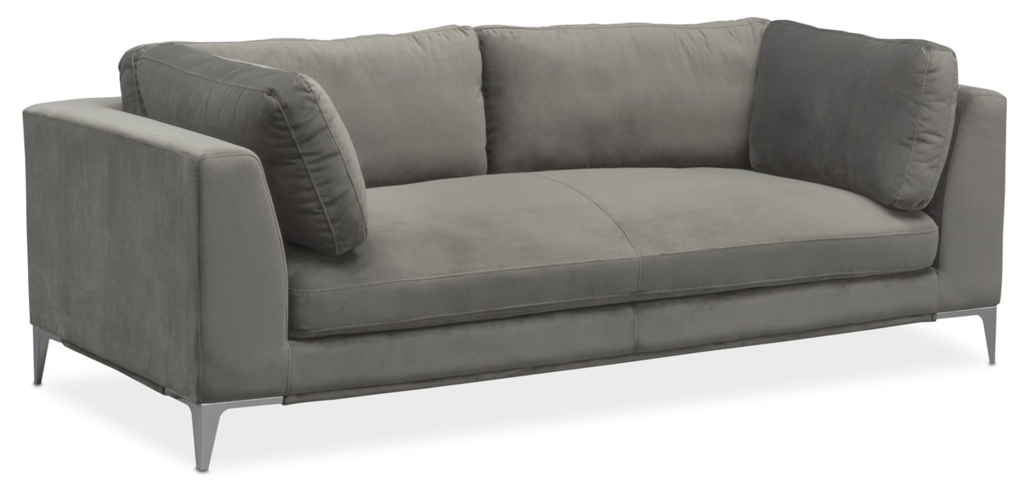 Aaron sofa flannel american signature furniture for Sectional sofas aarons