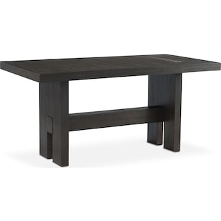 Malibu Rectangular Counter-Height Wood Top Table - Umber