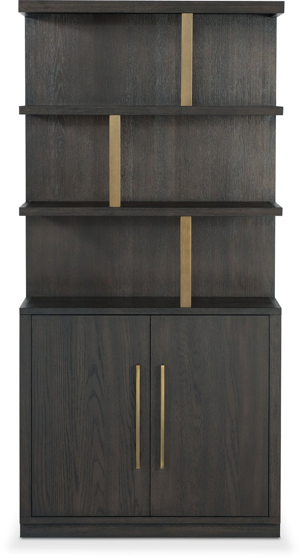 Malibu Open Display Cabinet - Umber | American Signature Furniture