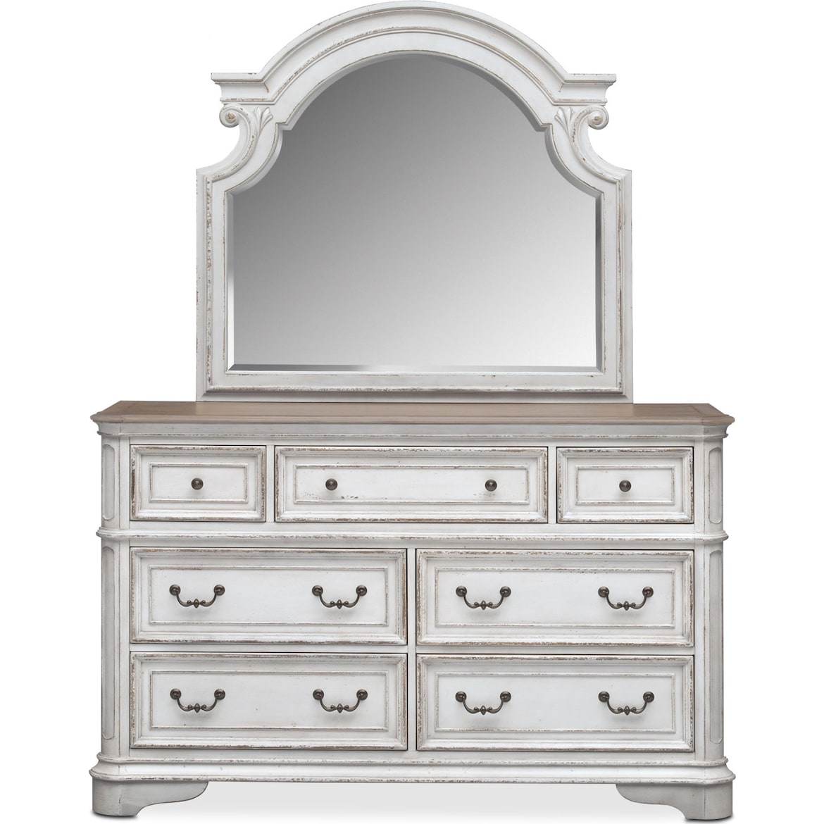 Marcelle Dresser And Mirror American Signature Furniture