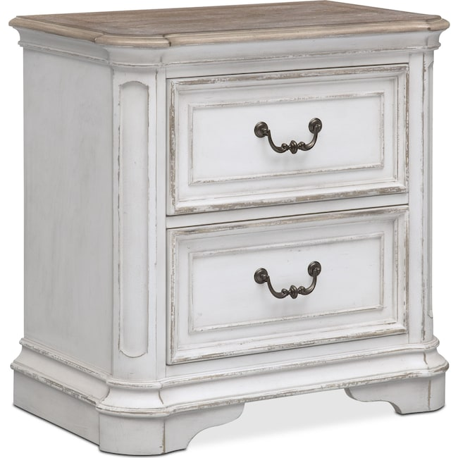 Bedroom Furniture - Marcelle Nightstand - Vintage White