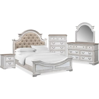 The Marcelle Bedroom Collection - Vintage White