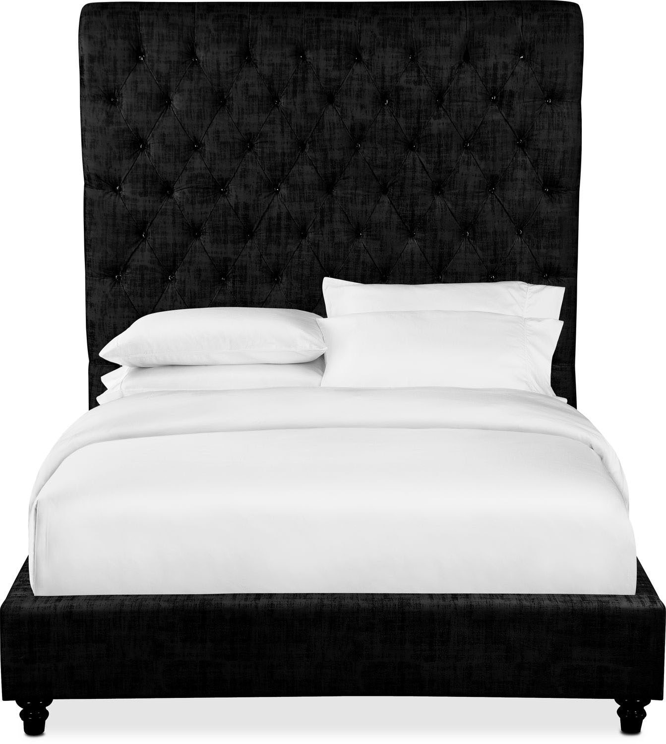 Diana Queen Upholstered Bed - Black | American Signature Furniture