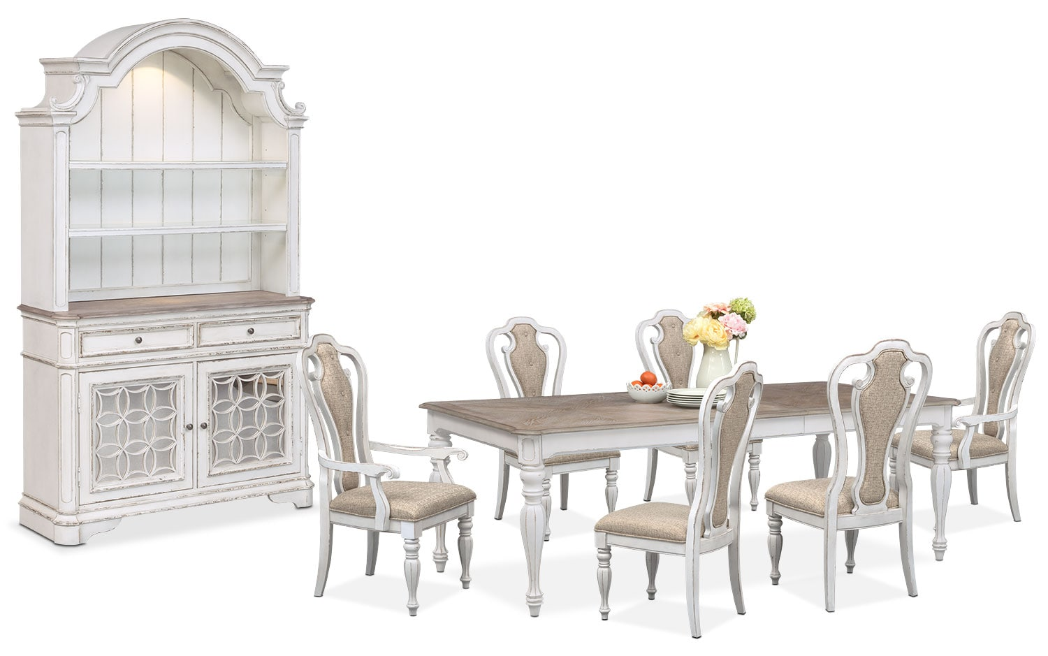 The Marcelle Dining Collection - Vintage White