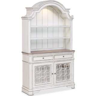 Marcelle Buffet and Hutch - Vintage White