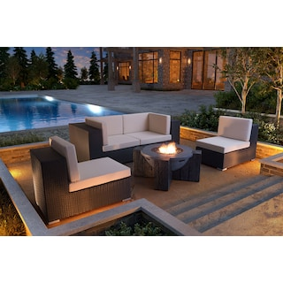 Wiley 3-Piece Outdoor Sectional - Espresso