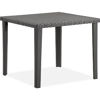 Rex Outdoor Square Dining Table - Brown