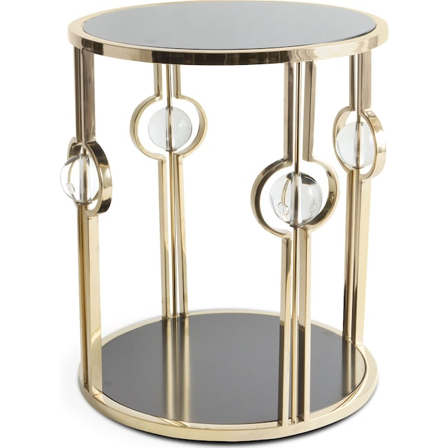 Accent and Occasional Furniture - Pearson Side Table - Black and Gold