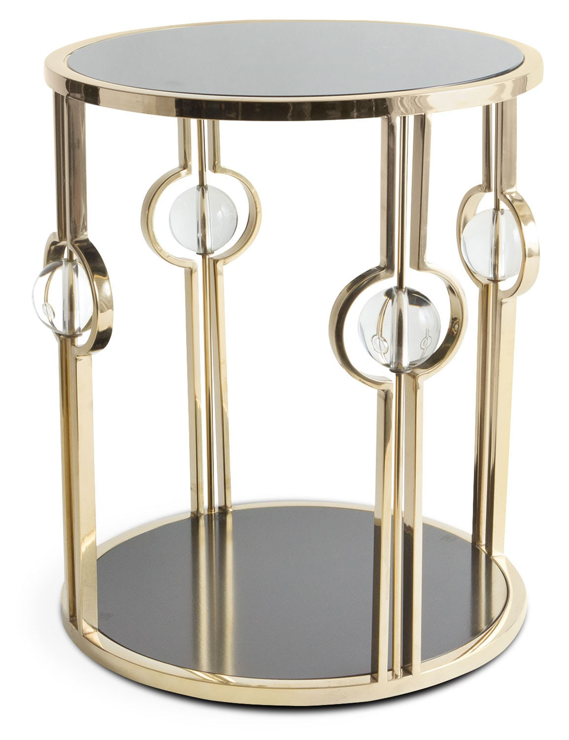 pearson side table black and gold