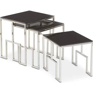 Caballo 3-Piece Nesting Tables - Black
