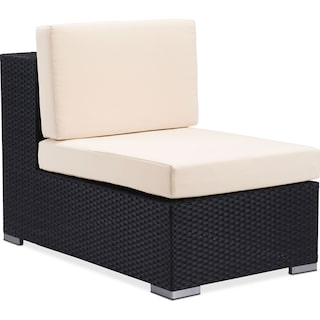 Wiley Outdoor Armless Chair - Espresso