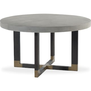 Malibu Round Concrete Top Table - Umber