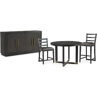 The Malibu Round Counter-Height Dining Collection - Umber