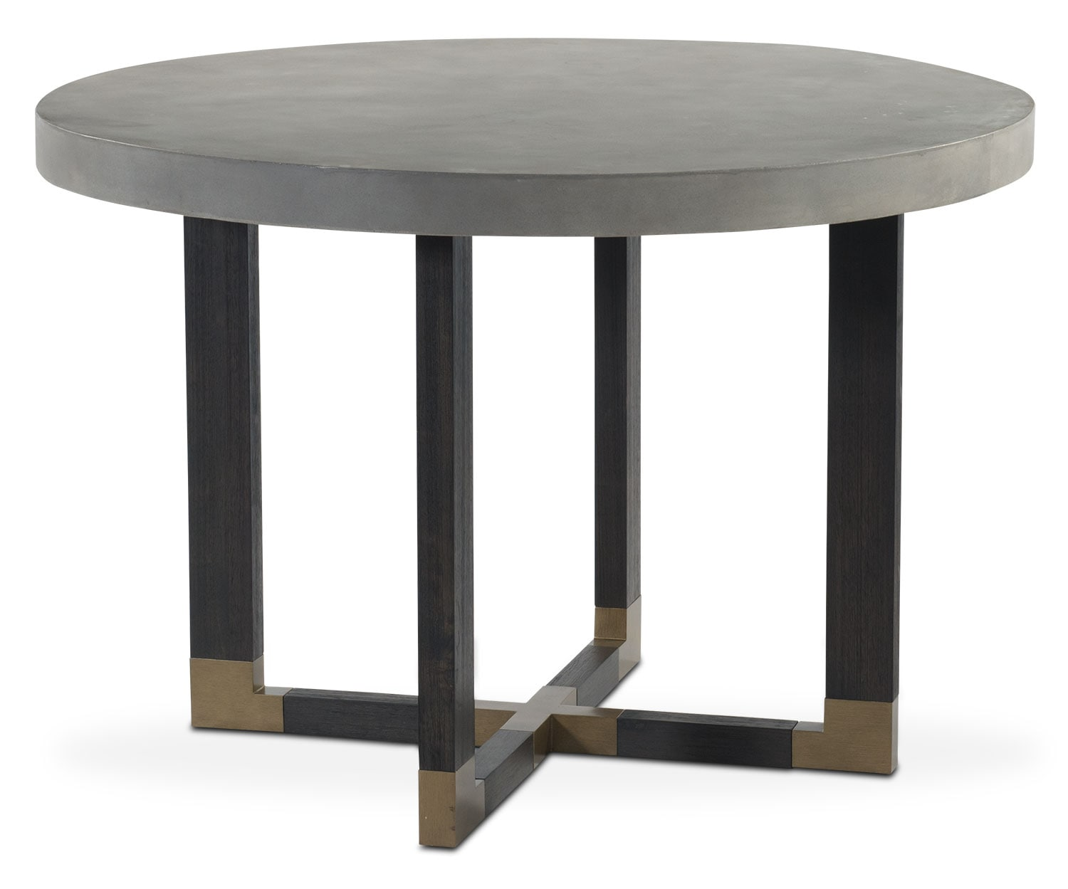 Malibu round counter height concrete top table umber american signature furniture