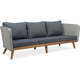 Peyton Outdoor Sofa - Natural and Gray