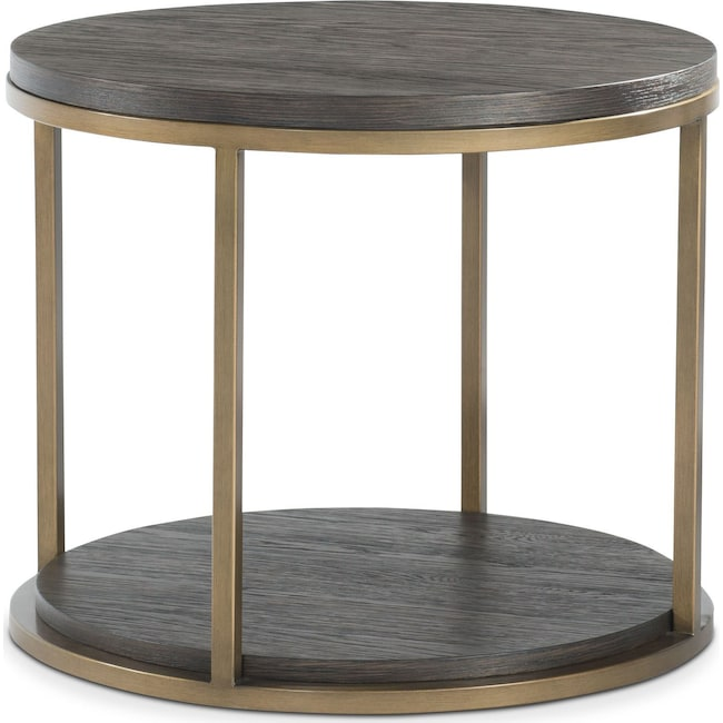 Accent and Occasional Furniture - Malibu Metal End Table - Umber