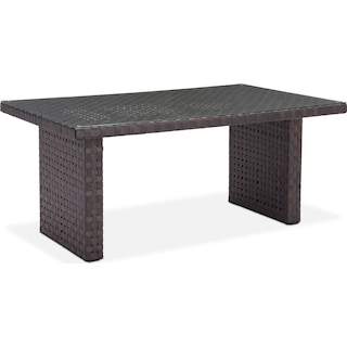 Turner Outdoor Dining Table - Brown