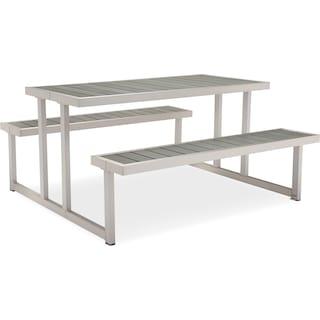 Westlake Outdoor Picnic Table - Gray