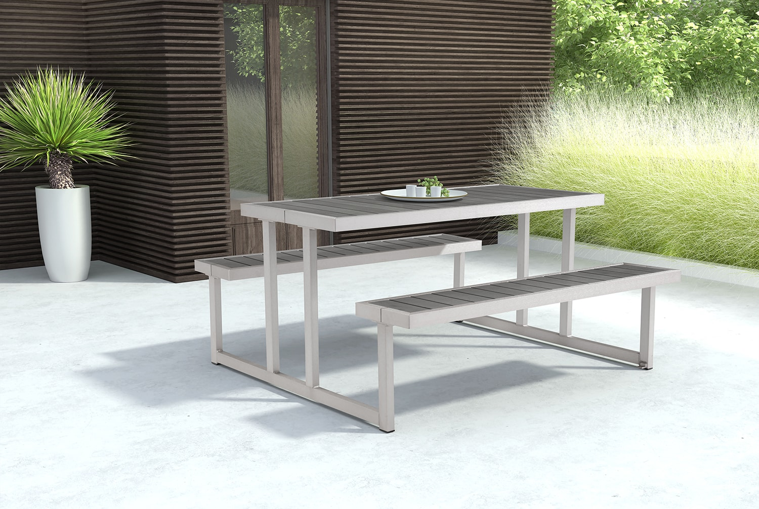Outdoor Furniture - Westlake Outdoor Picnic Table - Gray