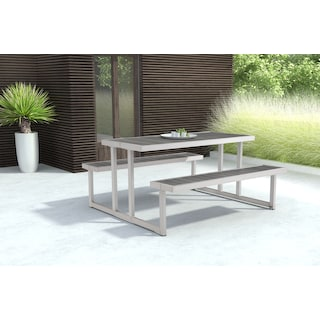 Westlake Outdoor Picnic Table - Gray