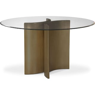 Symmetry Round Dining Table - Bronze