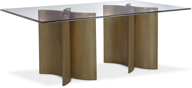 Symmetry Rectangular Dining Table   Bronze