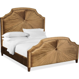 Brittney Queen Upholstered Bed - Bronze