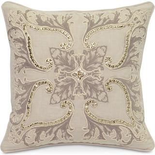 Floral Decorative Pillow - Ivory