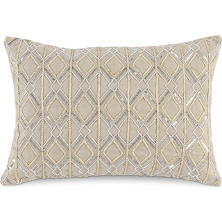 Metallic Decorative Pillow - Ivory