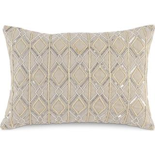 Metallic Decorative Pillow - Ivory