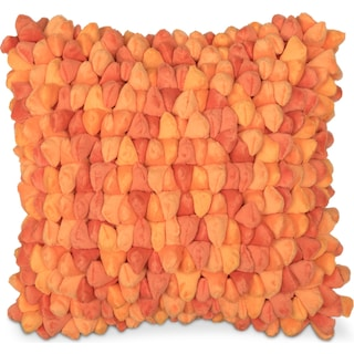 Plush Decorative Pillow - Tangerine