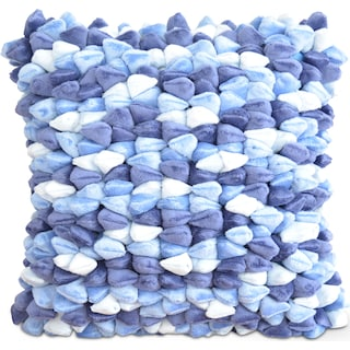 Plush Decorative Pillow - Blue