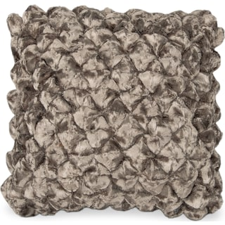 Plush Decorative Pillow - Chocolate Shimmer