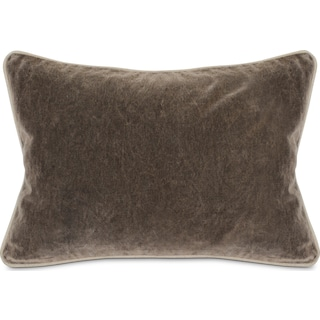 Velvet Decorative Pillow - Gray