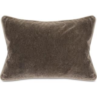 Velvet Decorative Pillow - Gray