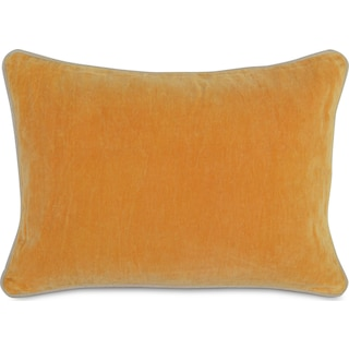 Velvet Decorative Pillow - Mango