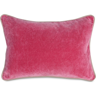 Velvet Decorative Pillow - Fuchsia