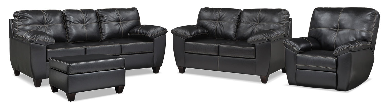 The Ricardo Living Room Collection - Onyx